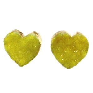 Multi-Color Natural Sugar Druzy Quartz Gold Plated Drop Dangle Stud Earrings