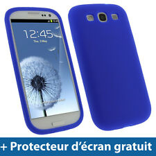 Bleu Étui Housse Silicone pour Samsung Galaxy S3 III i9300 Android Smartphone