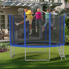 VILOBOS Trampoline Jumping Mat Safety Enclosure Net Bounce Set Spring Pad Ladder