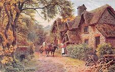 BONHILL NEAR LYNTON DEVON UK A R QUINTON ART SALMON SERIES #967 POSTCARD