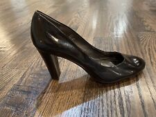 Calvin Klein Olive Women's Brown Patent Leather Heels Pumps Size 10 M