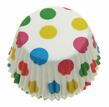 Eddingtons Set of 60 Large Paper Cupcake Cases - Muffin Cases - Coloured Spots