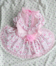Lace Flower Princess Dog Dress Clothing For Dogs Pet Chiwawa Dog Clothes Pink XS