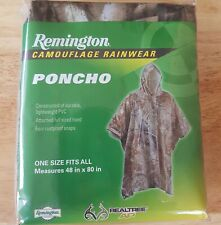 Remington Realtree AP Camo Poncho Raincoat