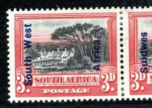 SOUTH WEST AFRICA Stamp 3d Groot Schuur Pair 1927 Mint MM CBLUE83
