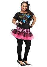 Fun World 122725fw Womens Plus Size 80s Pop Party Costume