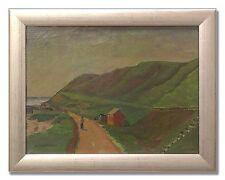 HJALMAR LUNDSTRÖM / ROLLING GREEN HILLS - Original Swedish Art Oil Painting
