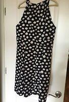 Ann Taylor LOFT Women's Sleeveless Polka Dot Summer Dress - Size 16R - NWOT