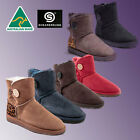 HAND-MADE Australia genuine Shearers UGG Mini Button Premium Sheepskin Boots