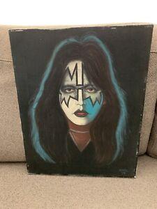 Fine Art Ace Frehley KISS Original Solo Album Canvas Oil Painting 1979 Ruehl