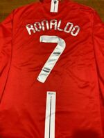 MANCHESTER UNITED RONALDO 2008 CHAMPIONS LEAGUE FINAL RETRO JERSEY Long Sleeve