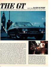 1967 GT CARS / GHIBLI - 2000 - BIZZARRINI - 330 GTC  ~ ORIGINAL 9-PAGE ARTICLE