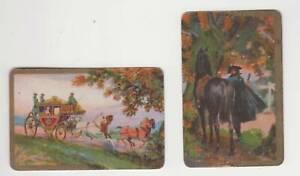 Q424  Vintage Swap Cards English artist  BARRIBAL C1960's highway man horse