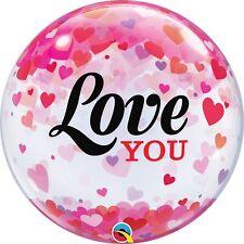 Party Supplies Valentines Day Love 56cm Single Bubble Love You Confetti  Balloon