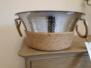 Large Champagne Silver Bucket/ Ornament