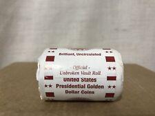 John Tyler Brilliant Uncirculated Pesidential Golden Dollar Unbroken Vault Roll