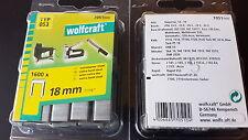 Tacker Klammern  Wolfcraft  18mm  STAHL   11 200 Stück   Rücken 11,3mm    Typ53