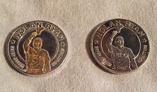 (2) 1993 Nolan Ryan 7 No Hitters REPUBLIC OF LIBERIA $1 Commemorative Coins