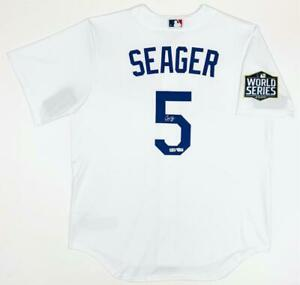 COREY SEAGER Autographed Dodgers World Series White Nike Jersey FANATICS