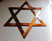 "Star of David  12"" Copper/Bronze HANGING METAL WALL ART DECOR"