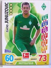 Match Attax 2017/18 Bundesliga - #050 Zlatko Junuzovic - SV Werder Bremen