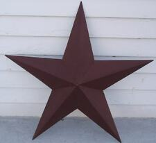 "48"" Burgundy Metal Barn Texas Star Rustic Tin Country Primitive Americana New"