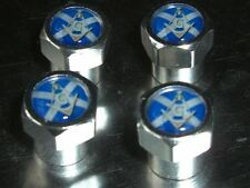 SCOTTISH ST ANDREWS MASONIC FREEMASON CAR TYRE VALVE CAPS