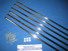 MG   OE MGB ROADSTER OR GT 6 PIECE CHROME TRIMS AND FITTING KIT SIDE MOULDINGS