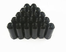 20 Pcs Black Open End M12 x 1.5MM Tuner Wheel Long Lug Nuts Kit For Honda Acura