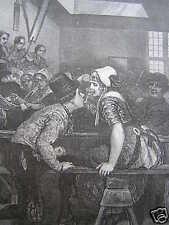 prent gravure print Oost-Souburg herberg 1873 dillens