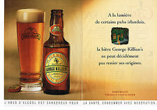 PUBLICITE ADVERTISING 054  1993  GEORGE KILLIAN'S   bière  ( 2 pages)