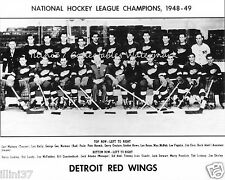 1948-49 DETROIT RED WINGS STANLEY CUP CHAMPIONS 8X10 TEAM PHOTO HOWE LINDSAY