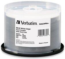 Verbatim Blu-Ray BD-R 25GB 6X Disc Inkjet Hub-Printable Datalifeplus (97339)