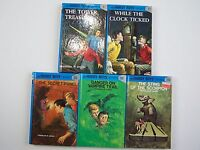Franklin W Dixon The Hardy Boys Stories Series Hardcover 5 Book Blue Cover Lot
