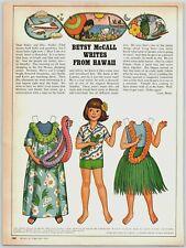 1978 McCalls Paper Dolls Betsy McCall Hawaii Print Ad