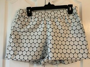 J Crew Cotton & Polyester Grey And White Circle Shorts    Size 6