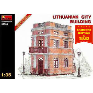 Miniart 35504 Lithuanian City Building WWII Diorama 1/35 Scale Plastic Model Kit