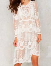 AU seller - Sexy boho floral sheer lace beach party cocktail dress w slip dress