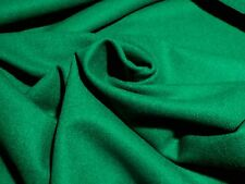 Deep Emerald Green Flannel Wool Suiting - Beautiful Solid with Tight Weave