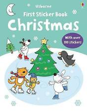 Christmas by Jessica Greenwell (Paperback, 2009)Usborne First Sticker book NEW
