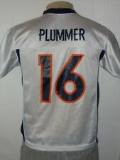 REEBOK JAKE PLUMMER #16 DENVER BRONCOS WHITE NFL FOOTBALL JERSEY YOUTH LARGE