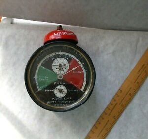 """AMUSING OLD TIN CLOCK MADE IN WURTTENBERG DECORATED AS R.A.F """"FLAPOMETER""""  A/F"""