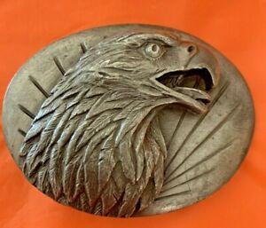 1987 Eagle Head Profile BELT BUCKLE 3D Relief Amazing Detail Collectible #0-50