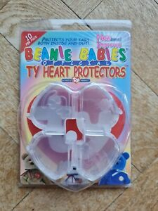 VINTAGE 1999 PACK OF UNOPENED BEANIE BABIES OFFICIAL TY HEART PROTECTORS ❤