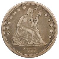 1877-CC Liberty Seated Quarter, Circulated Condition, Very Fine Nice Original