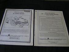 """39"""" Noma Riding Mower Operators Manual & Parts Manual"""