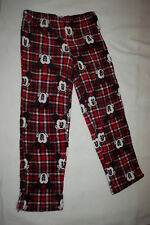 59f44d38b3 Womens MICKEY MOUSE PAJAMA PANTS Red Black Plaid SOFT FLEECE Sleep Lounge M  8-10