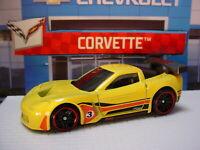 HW CORVETTE Design CORVETTE C6-R ☆yellow; 3;red pr5 ☆2021 Hot Wheels LOOSE