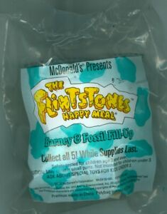 1993 McDonald's Happy Meal Toy The Flintstones Barney & Fossil Fill-Up Unopened