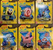 New! Hot Wheels Nickelodeon SpongeBob SquarePants Complete Set of 6